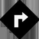 Google map direction icon